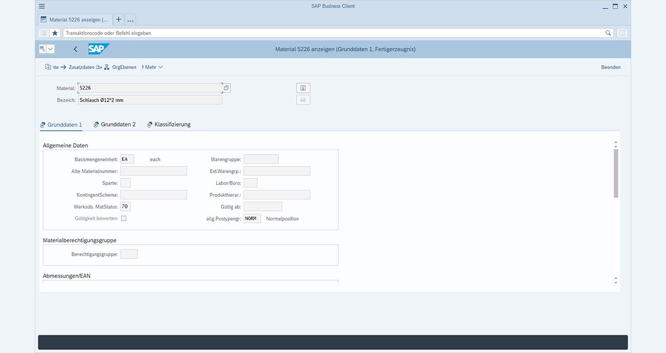 SAP GUI-Transaktion