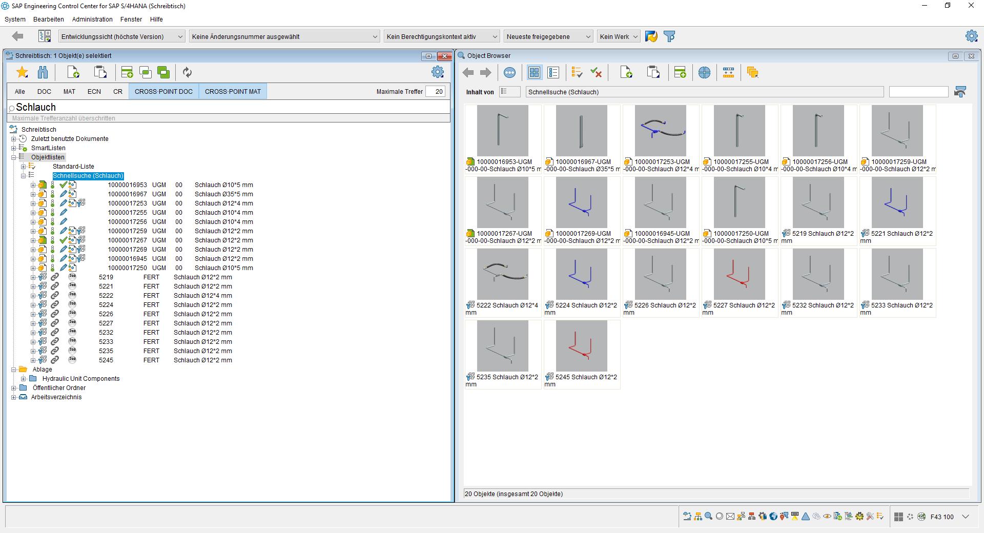 Verwendung der CROSS·POINT-Suchtechnologie direkt in SAP ECTR