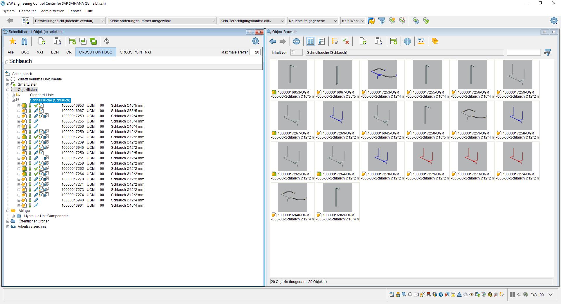 Übertragung der suchergebnisse aus CROSS·POINT zurück nach SAP ECTR