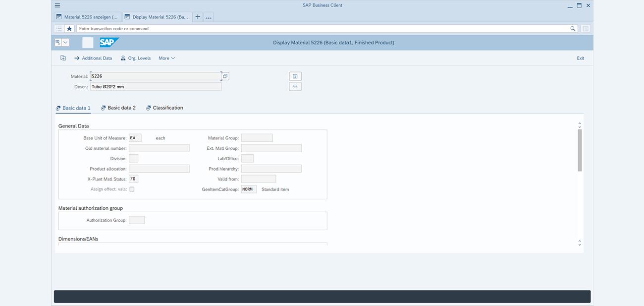 SAP GUI transaction